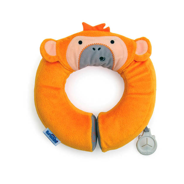 Yondi - Mylo Orange Monkey Travel Pillow