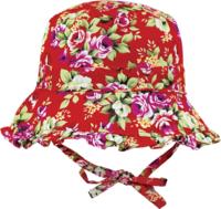 Black Ice: Bouquet Red Bucket Cap - (4-8 Years)