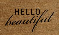 Natural Fibre Doormat - Hello Beautiful