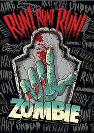 Spencil: A4 Book Cover - Zombie Run