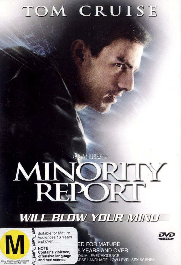 Minority Report (Single Disc) on DVD image
