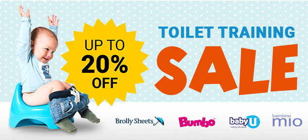 Toilet Training Sale- Up to 20% off