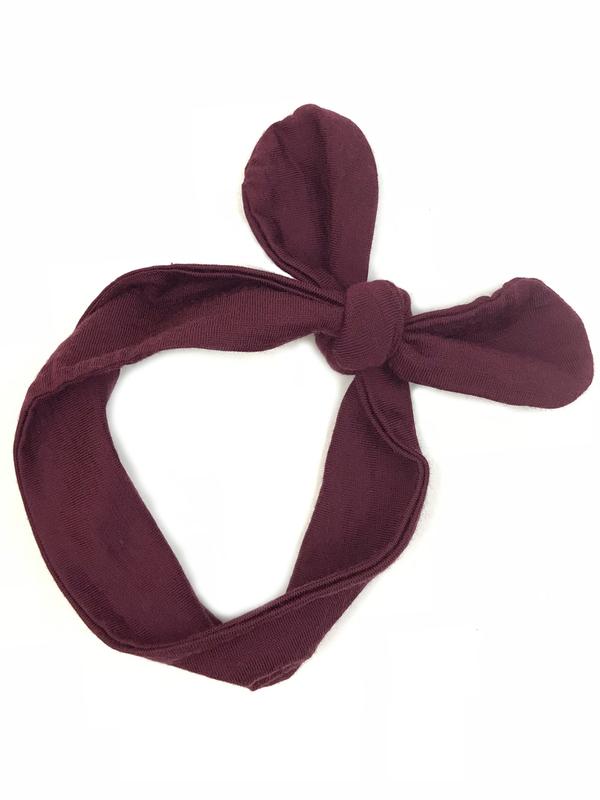 Babu: Merino Baby Headband - Burgundy
