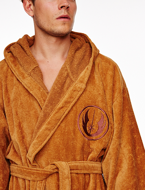 Star Wars Jedi Deluxe Hooded Dressing Gown | Men\'s | at Mighty Ape ...