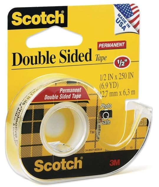 Scotch 136 Double Sided Tape on Dispenser 12.7mmx 6.35m image