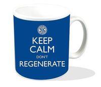Doctor Who - Keep Calm Don't Regenerate Blue Mug