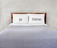 The Rise and Fall: Je t'aime Pillowcase Set