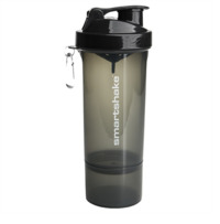 Smartshake Slim Protein Shaker - Gunsmoke Black (500ml)
