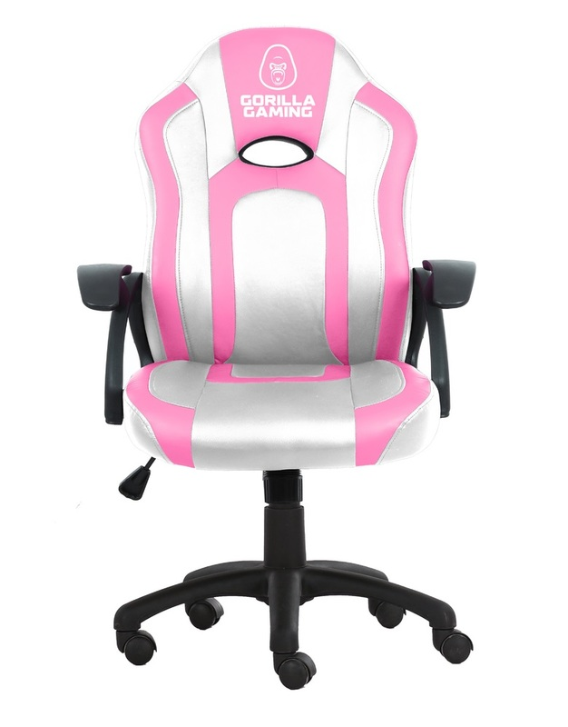 Gorilla Gaming Little Monkey Chair - Pink & White for