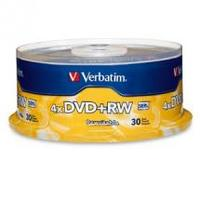 Verbatim DVD+RW 4.7GB 30Pk Spindle 4x image