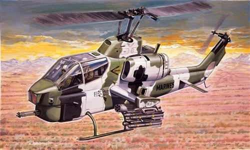 Italeri AH1W Super Cobra Helicopter 1:72 Model Kit image