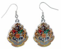 Harry Potter Earrings - Hogwarts Crest (silver plated)