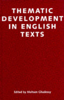 Thematic Developments in English Texts by Mohsen Ghadessy image