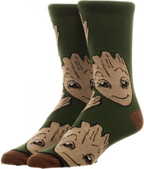 Guardians of the Galaxy: Groot - All Over Print Crew Socks (Large)