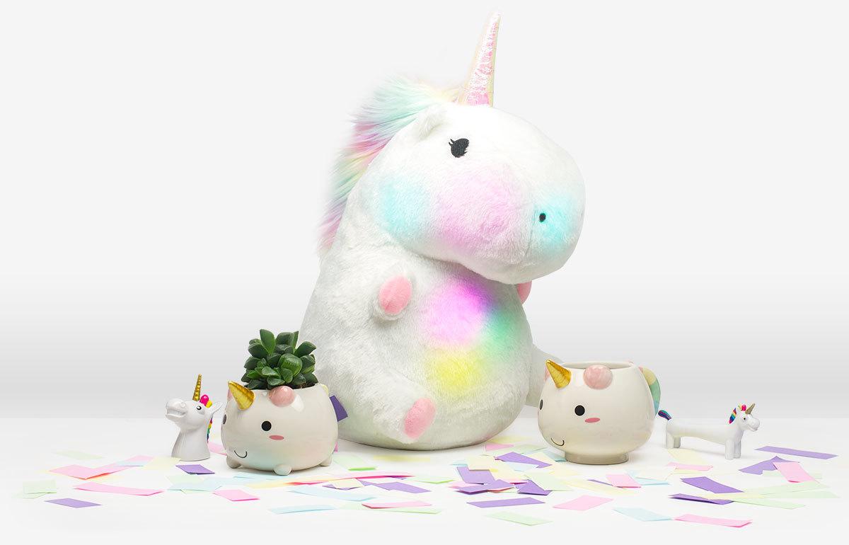 Chubby Light-Up Unicorn Pillow image