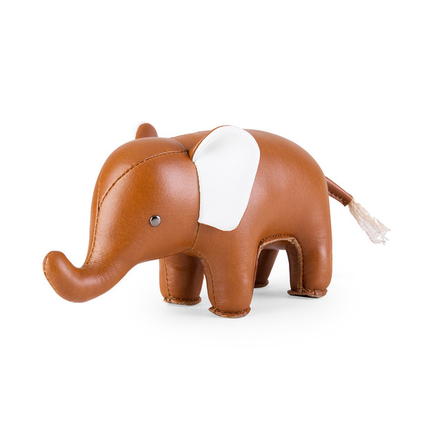Zuny Paperweight - Classic Elephant Tan