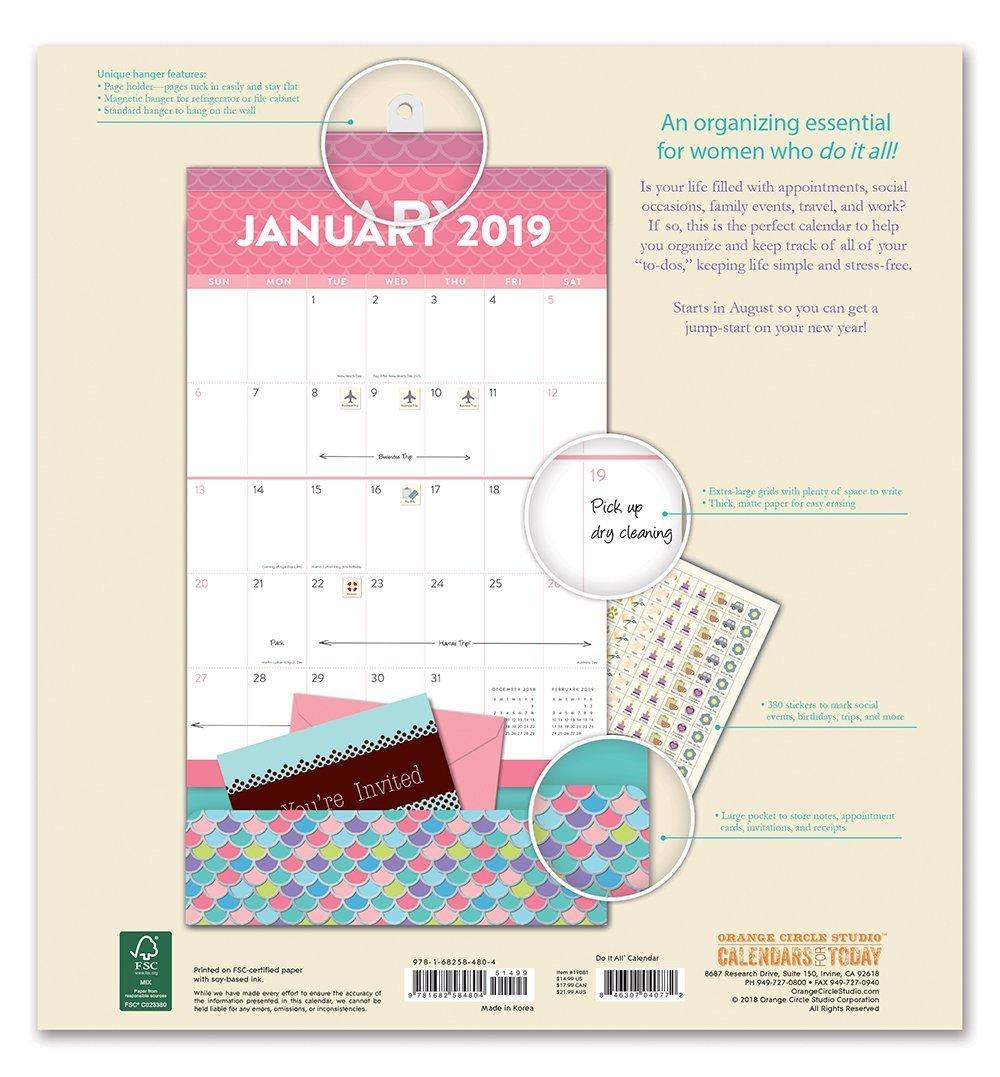 Do It All: Kaleidoscope 17 Month 2019 Wall Calendar image