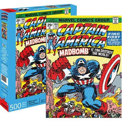 Marvel: 500 Piece Puzzle - Captain America Cover