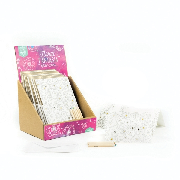 Seedling: Floral Fantasia - Glitter Cards Set