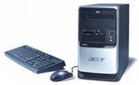 "Acer Aspire X2 3800+ 1GB 250GB DVDRW NV7500 Vista HP + AL1916S 19"" LCD image"
