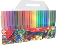 Luna - Fibre Tip Pens: 2mm 24 Pack Pencil Wallet