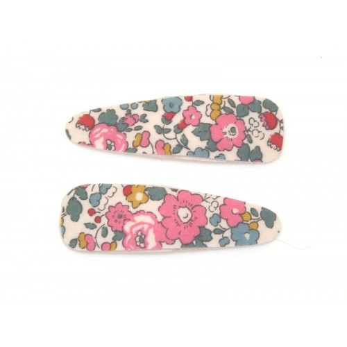 Liberty Betsy Ann Felt Lined Snaps - Pink/Teal image