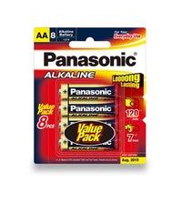Panasonic Alkaline AA Batteries - 8 Pack