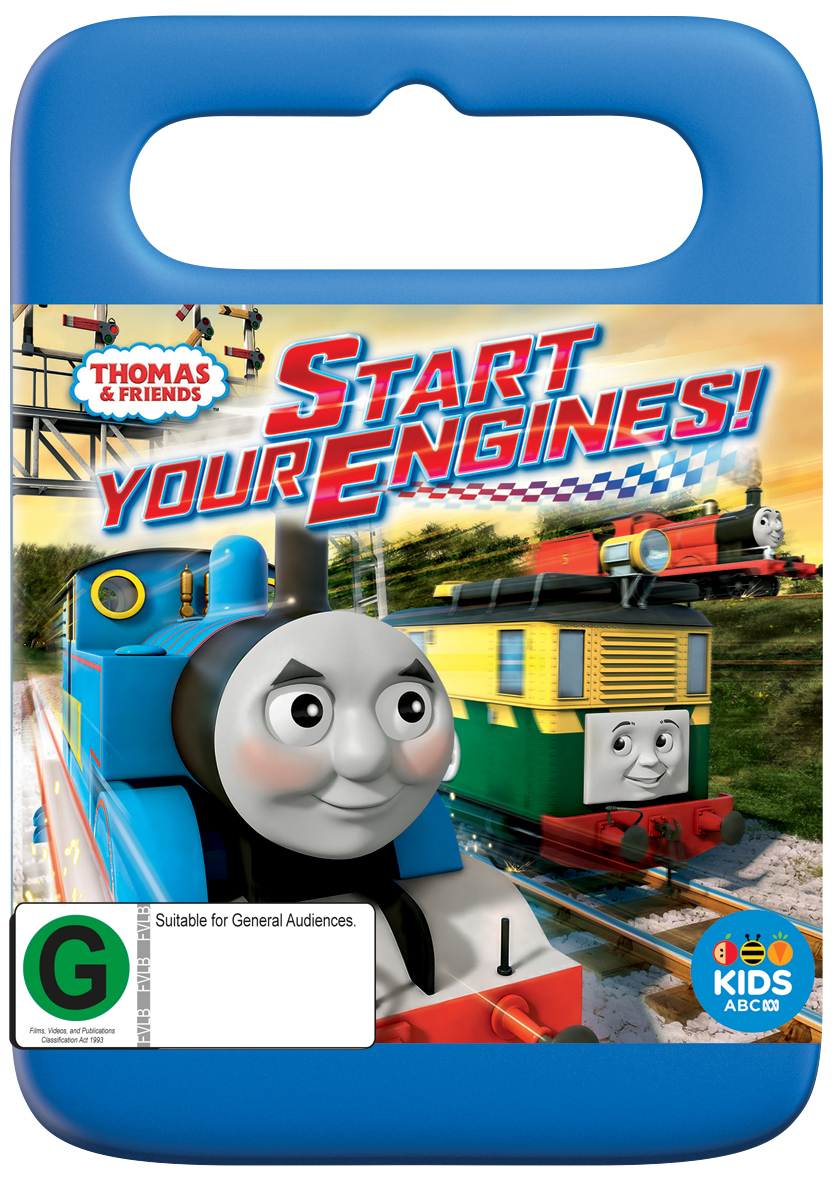 thomas friends start your engines dvd in stock buy now at mighty ape nz. Black Bedroom Furniture Sets. Home Design Ideas