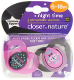 Closer to Nature Night Time Soother: 6-18 Months (Pink/Sweet Dreams) - 2 Pack