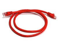 CAT 6a UTP Ethernet Cable; Snagless - 0.5m (50cm) Red