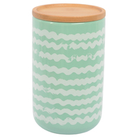 MarloCanister with Wood Lid - Fazer Mint (Large)