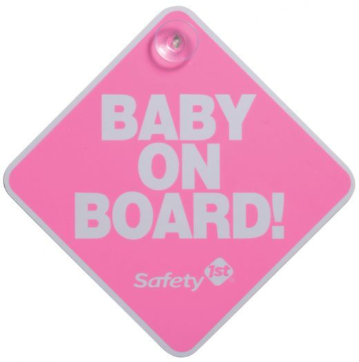 Safety 1st: Baby on Board Sign (Non-phthalate) - Pink