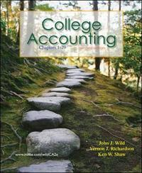College Accounting Ch 1-29 with Annual Report by John J Wild image