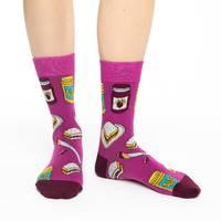 Good Luck Socks: Women's Peanut Butter & Jam Socks - Shoe Size 5-9