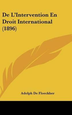 de L'Intervention En Droit International (1896) by Adolph De Floeckher image