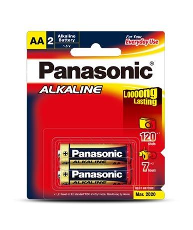 Panasonic Alkaline AA Batteries - 2 Pack