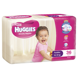 Huggies Ultra Dry Nappies Bulk - Toddler Girl 10-15kg (36)