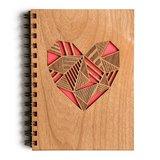 Cardtorial Wooden Journal - Heart