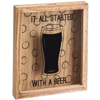 Cap Collector Art Plaque - It All Started With a Beer image