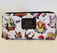 Loungefly: Pokemon Eevee Evolutions - Tattoo Zip Around Wallet