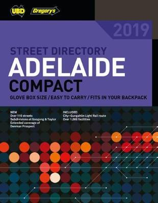 Adelaide Compact Street Directory 2019 10th ed by UBD / Gregory's image