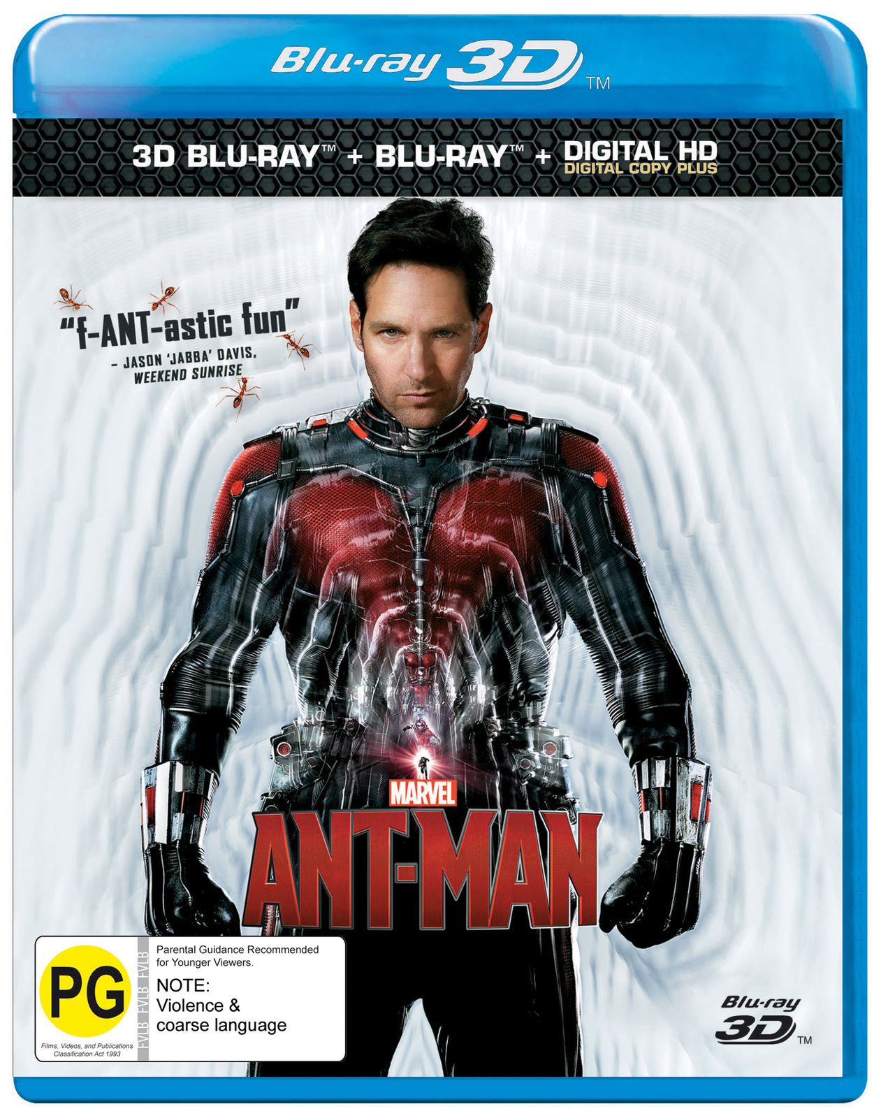 Ant-Man on Blu-ray, 3D Blu-ray image