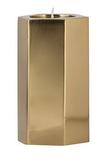 General Eclectic Med Hexagonal Tealight Holder - Bronze