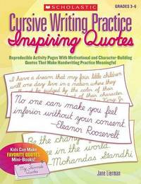 Cursive Writing Practice: Inspiring Quotes by Jane Lierman