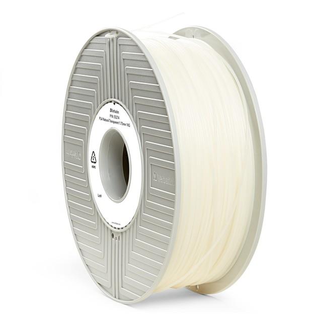 Verbatim 3D Printer PLA 1.75mm Filament - 1kg (Natural Transparent)