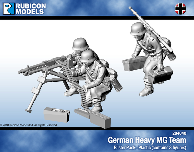 Rubicon 1/56 German Heavy MG Team
