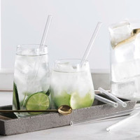 Save Planet A - Glass Drinking Straws (4pk)