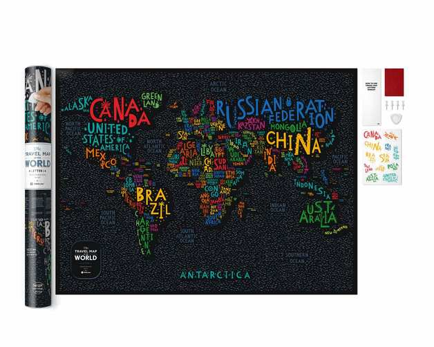 Scratch-off maps Travel Map Letters World