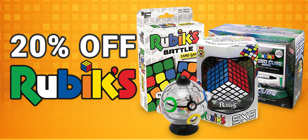 20% off Rubiks!