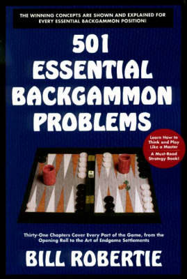 501 Essential Backgammon Problems by Bill Robertie image